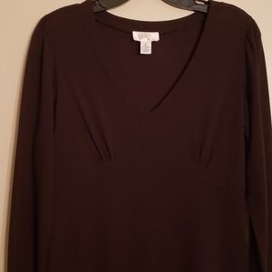 Great Chocolate Brown Soft Knit Dress